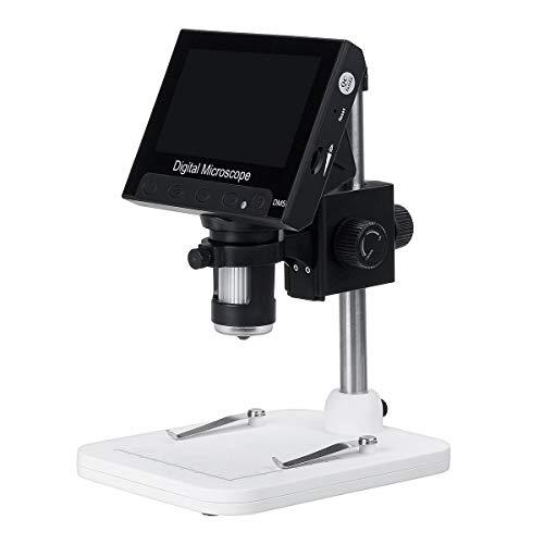 1000x 4.3 '' LCD-Bildschirm Digital Video Elektronisches Mikroskop HD 1080P 8 LED-Leuchten LED-Leuchten (Color : A)