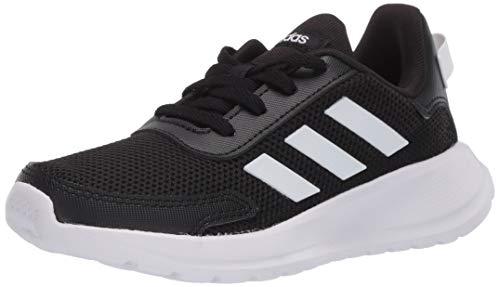 adidas boys Tensaur Run Sneaker, Black, 3.5 Big Kid US