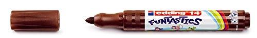 edding Fasermaler Filzstifte e-14 FUNTASTICS, Braun, ca. 3 mm