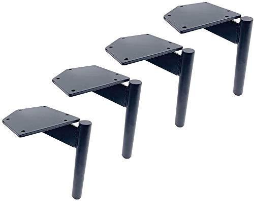 GANE Patas de Mesa de Centro de Metal con Patas de Muebles de 4 Piezas, Patas Negras de Soporte para sofá, Patas de Repuesto para Armario de TV/baño, Altura 17 cm / 6,8 Pulgadas