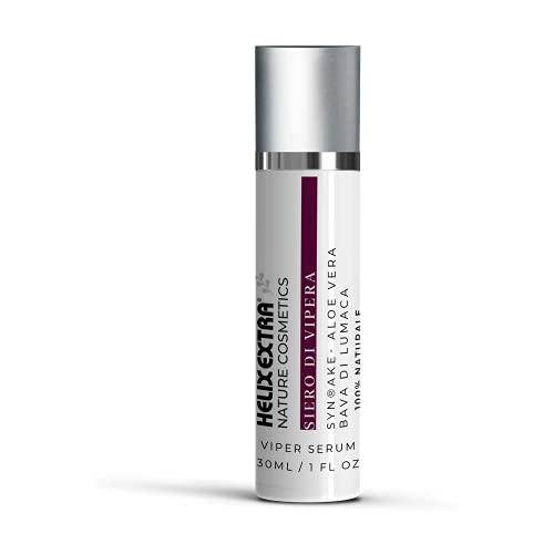 Helixextra Siero di vipera con Syn Ake - Gel aloe vera - Bava di lumaca pura Siero effetto lifting immediato antirughe, antiage, effetto botox, illuminante, rimpolpante per viso. 30 ML