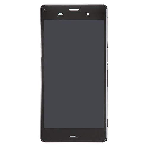 Reemplazar revisión por partes telefónicas IPartsBuy LCD + pantalla táctil digitalizador Asamblea con marco for Sony Xperia Z3 / D6603 / D6643 / D6653 (Single Version SIM) Accesorio ( Color : Black )