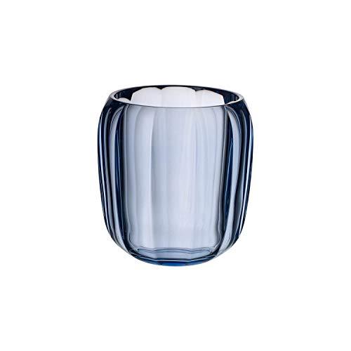 Villeroy & Boch Coloured DeLight Windlicht Winter Sky, 15,5 cm, Kristallglas, Klar/Blau