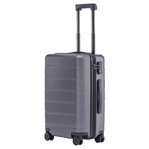 """Xiaomi Luggage Classic 20"""" Trolley Bagaglio a Mano con 8 Ruote, 55 cm, Dimensioni Standard per Cabina Aereo, Lucchetto TSA, 38 litri, Grigio"""