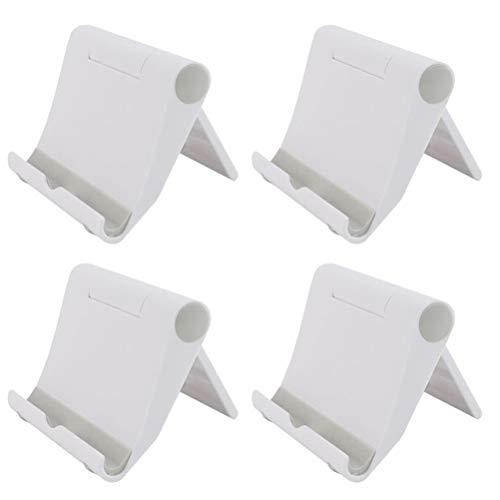 PartyKindom 8 unids Universal Teléfono Titular de Escritorio Ajustable Creativo Soporte para Teléfonos Celulares Smartphones Tabletas Blanco para Regalo