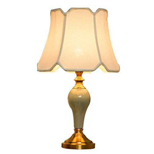 Lámpara de escritorio de cerámica LED restaurante ahorro de energía moderno mini - Luz para proteger El dormitorio lámpara de escritorio lámpara de lectura de escritorio iluminación indirecta(60x35cm)
