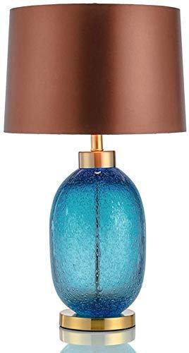N/Z Tägliche Ausrüstung Ländliche blau glasierte Schreibtischlampe Warme Leselampe Amerikanische postmoderne minimalistische Modell Schlafzimmer dekorative Tischlampe (Größe: 1 Stück)