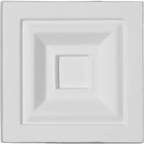 Ekena Millwork PB03X03X01ER 3 3/4-Inch W x 3 3/4-Inch H x 1 1/8-Inch P Eris Plinth Block