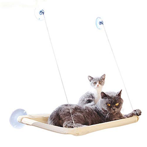 KATERT Sunny Seat Window Mounted Cat Bed, Space Saving Cat Hammock, Hold up to 50 lbs