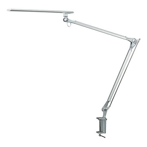 Metall LED Schreibtischlampe/Klemmleuchte, Phive 10W Schwenkarm Architektenlampe Arbeitsleuchte (Berührungsempfindliche Stufenlose Dimmung, Augenschutz, Speicherfunktion, Büro Tischlampe)