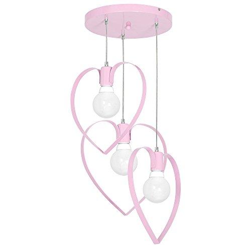 Lampa lampadario cameretta bambini LOVE3 ROSA 9954