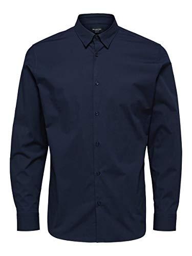 SELECTED HOMME Male Hemd Slim Fit LNavy Blazer
