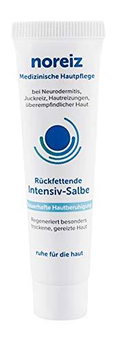 noreiz Rückfettende Intensiv-Salbe · Medizinische Hautpflege · bei Neurodermitis, Juckreiz, empfindlicher Haut · Wirkstoff Thiocyanat · 15 ml