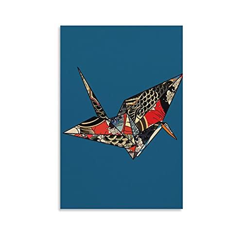 Póster decorativo de la pared del arte de la pared de origami del pájaro del Japón de la pintura del dormitorio 20 × 30 cm