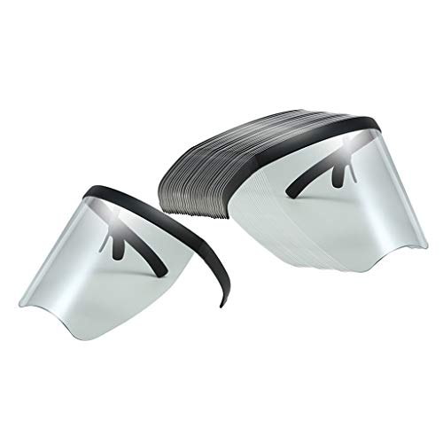 Milageto Gafas de sol reutilizables con visera extragrande de 30 unidades