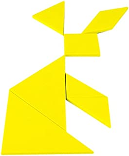 Fun with Magnets Yellow Educational Tangram - Logic Puzzle & Maths Game ( Pack of 1 )
