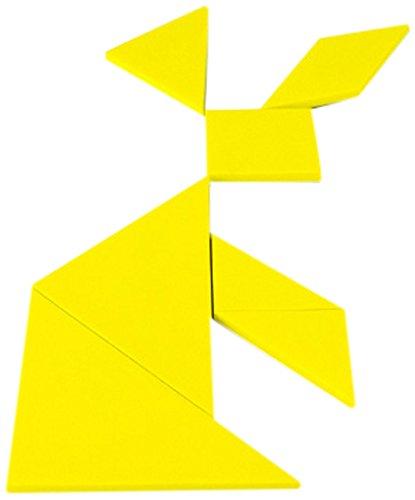 Leuk met magneten geel educatief Tangram - logica puzzel & wiskunde spel (Pack van 1)