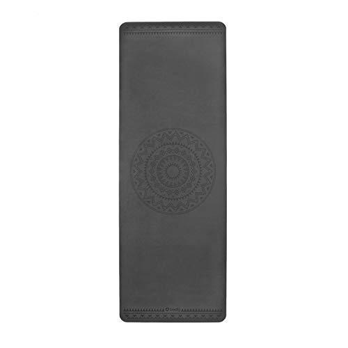Bodhi Design Yogamatte Phoenix Mat, schwarz mit Ethno Mandala