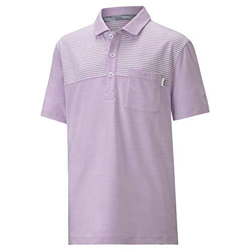 PUMA Jungen Golf 2020 Cloudspun Pocket Polo, Jungen, Polo, Golf 2020 Boy's Cloudspun Pocket Polo, Lupine, Large
