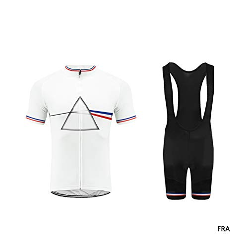 Uglyfrog Homme Cuissard VTT + Maillot Velo à Manches Longue Respirant Vêtements de Cyclisme XTNL03