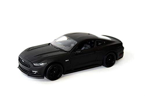 Welly Ford Mustang GT 2015 matt schwarz, Modellauto 1:24