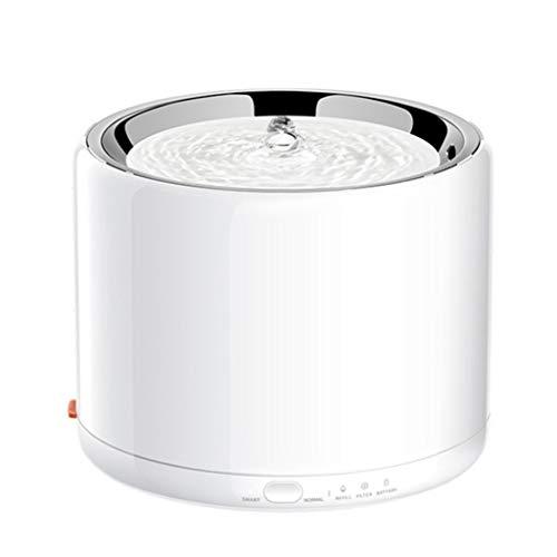 XYZMDJ Dispensador de Agua para Mascotas Acero Inoxidable 1.35L Dispensador automático de Agua Pet con LED Dispensador de Agua de Apagado automático LED