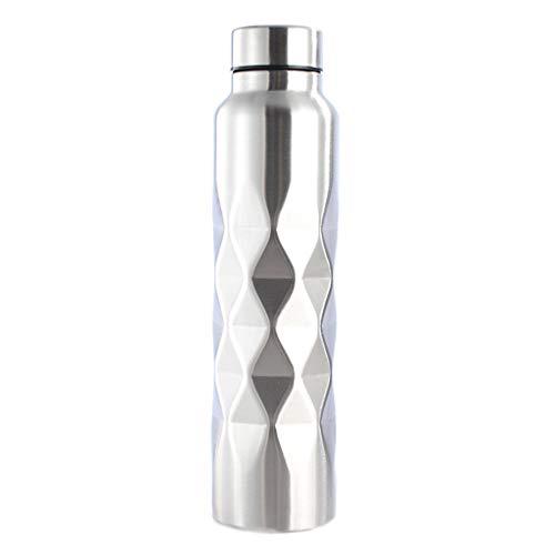 Botellas de agua de 1000 ml con tiempo para beber, botella de agua de acero inoxidable de una sola pared para gimnasio, deportes, ciclismo, cerveza, bebida B