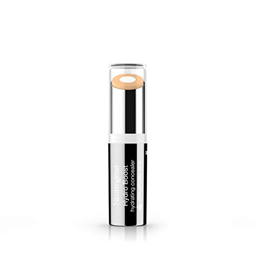 Neutrogena Hydro Boost Hydrating Concealer Stick for Dry Skin, Oil-Free, Lightweight, Non-Greasy and Non-Comedogenic Cover-Up Makeup with Hyaluronic Acid, 20 Light, 0.12 Oz