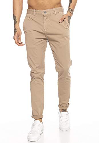 Redbridge Pantalon pour Homme Classique en Coton Casual Business Stretch Pants Marron W30 L32