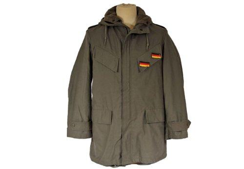 Gr.XL Original BW Parka mit Futter und Abzeichen Oliv neu Bundeswehrparka