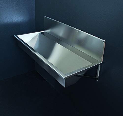FRG - Desagüe de acero inoxidable de 1200 mm, para lavabo en línea, lavabo, fregadero, fila de lavado, Fero, montaje en pared