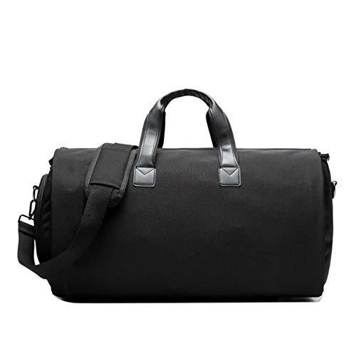 Neuleben Reisetasche Anzugtasche Kleidersack Sporttasche mit Schuhfach Wasserabweisend Faltbar Multifunktion Damen Herren für Reise Sport Gym Fitness (Schwarz)