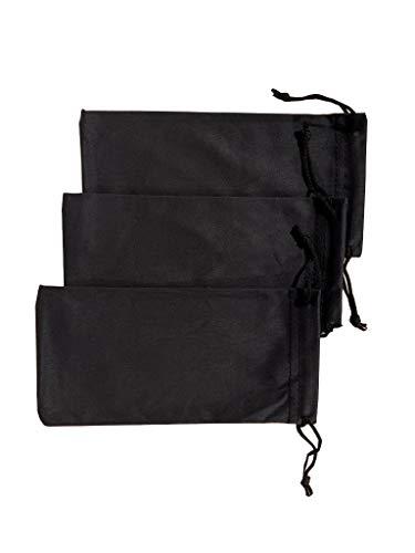 Molina confezione da 3 sacchetti in micro fibra per occhiali da sole, cellulare, gadget elettronici, pipe. Custodia portaocchiali.