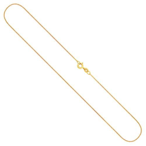 Goldkette, Panzerkette flach Gelbgold 333/8 K, Länge 50 cm, Breite 0.8 mm, Gewicht ca. 1.1 g, NEU