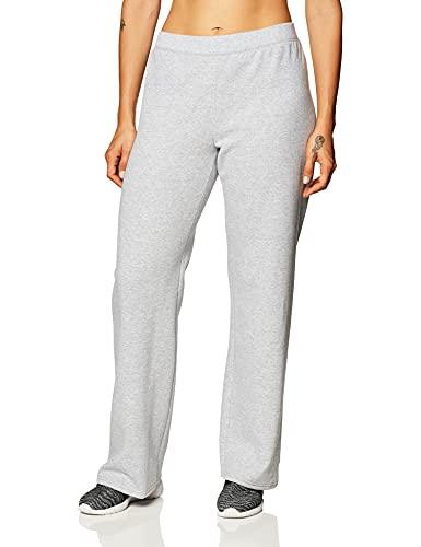 Hanes Women's Petite EcoSmart Open Bottom Leg Sweatpants, Light Steel, Small
