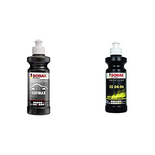 SONAX PROFILINE CutMax (250 ml) hoch effektive Schleifpaste für den Lackfinishbereich & PROFILINE EX 04-06 (250 ml) bringt optimale Kratzerentfernung, beeindruckenden Tiefenglanz und Farbauffrischung