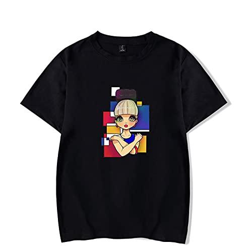 CAFINI Camiseta Katy Perry, Top De Moda Callejera para Hombres Y Mujeres, Jersey Informal Y Cmodo De Manga Corta con Estampado De Cantante (2XS-4XL)