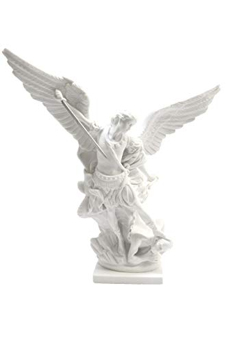 Vittoria Collection 16 Inch Saint St Michael Archangel Italian Statue Sculpture Figurine Guardian Angel Protector Protection Made in Italy Indoor Outdoor