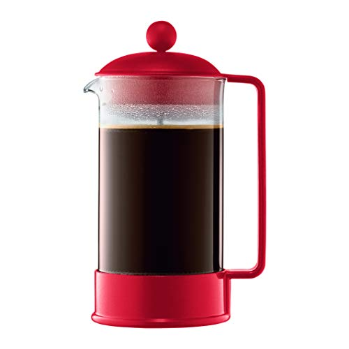 Bodum Brazil 1-Liter 34-Ounce French Press Coffeemaker, Red