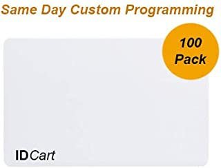 Custom Programmed IDCart PVC Proximity Card for Access Control. Replaces HID 1386 ISOProx II Cards. Standard 26 bit H10301 Format. Choose Your Facility Code & Range (100 Pack)