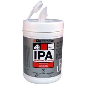 Chemtronics SIP91P 100 Wipes Presaturated with 91% IPA-by-Chemtronics