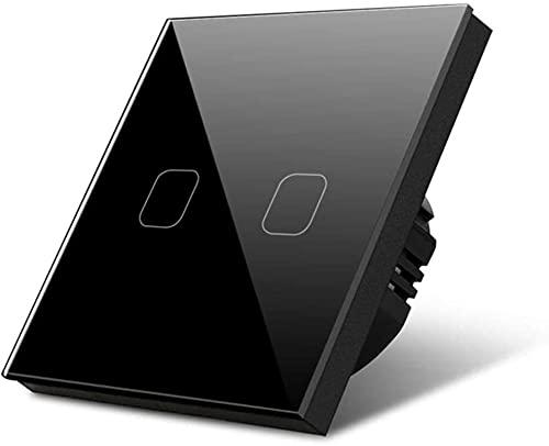 LXDZXY Toque Interruptor de luz 1/2/3 GAND 1 vía Luz Táctil Sensor Sensor Empotrado de Pared de Pared Interruptor de Cristal Templado Switch Standard 220V-240V Interruptor de luz Inteligente