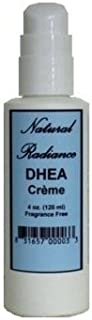 Natural Radiance DHEA Unscented & Paraben-Free - Topical Creme 4 oz. Pump Bottle. DHEA is a Precursor, or Source Ingredien...