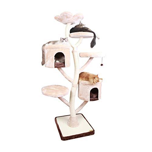 LSF Kratzbäume katzenbaum groB Cat Klettergerüst Große Zweischicht-DREI-Schicht Sisal Katzentoilette Kratzbaum Eine Katze Springen Plattform Katze Kratzbrett Multifunktionale Bequeme Katzenspielzeug