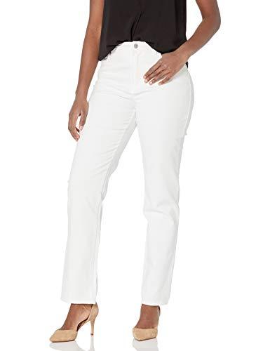 Gloria Vanderbilt womens Amanda Classic High Rise Tapered Jean, Vintage White, 10 Regular