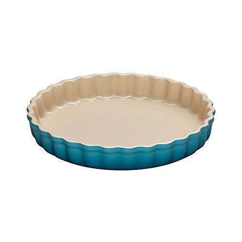 LE CREUSET TARTE-Form 28 cm Karibik, Gusseisen, Blau, One Size