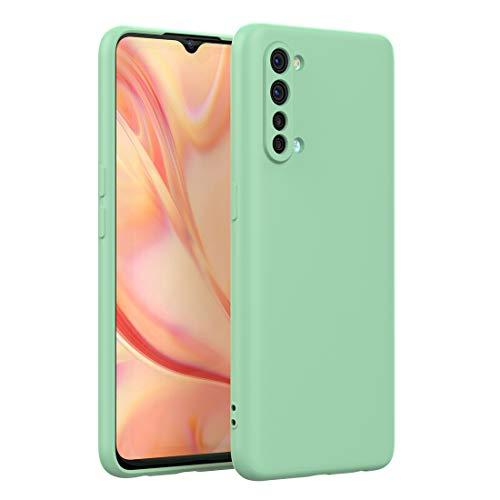 FUNMAX+ Oppo Find X2 Lite 5G Hülle Hülle, Silikon Handyhülle mit [Schutz für Kamera] [Faser-Innenraum] Anti-Scratch Dünn Schutzhülle Stoßfest Cover für Find X2 Lite (Grün)