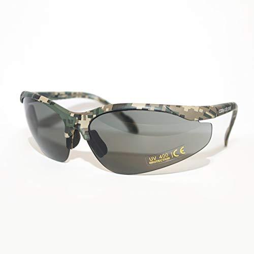 Cobra Taktische Airsoft Brille | Antibeschlag- und Kratzschutz Schießbrille | Schutzbrille | Arbeits- und Ballistikgläser mit schwarzem Rahmen, gelber Brille und verstellbaren Bügeln