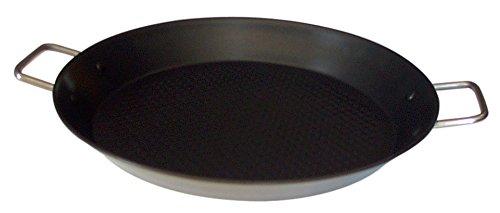 Callaway Paellera de INOX Antiadherente, 28 cm, Plateado/Negro