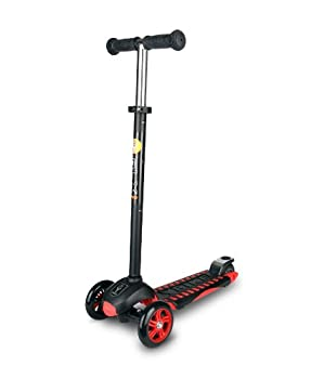 YBIKE GLX Pro Scooter Black and Red Kick Scooter for Kids 12cm